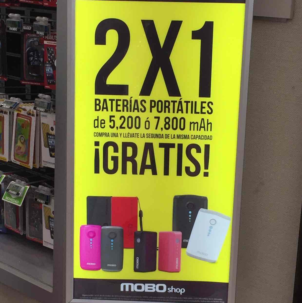 Mobo Shop: 2x1 en Baterías Portátiles Mobo
