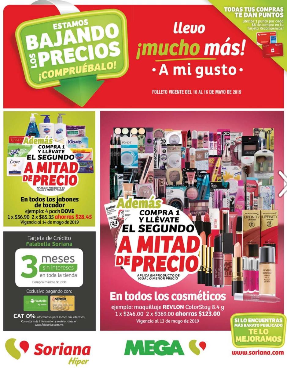 Soriana Híper y MEGA: Folleto de Ofertas Semanal Zona Centro del Viernes 10 al Lunes 16 de Mayo