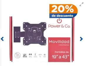 "Chedraui: Soporte Para TV Power & Co. 10"" a 43"""