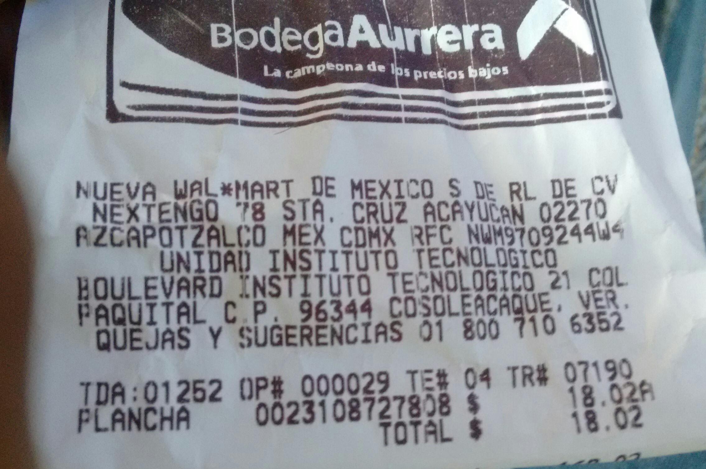 Bodega Aurrera: Plancha T-FAL Mod. FV1029