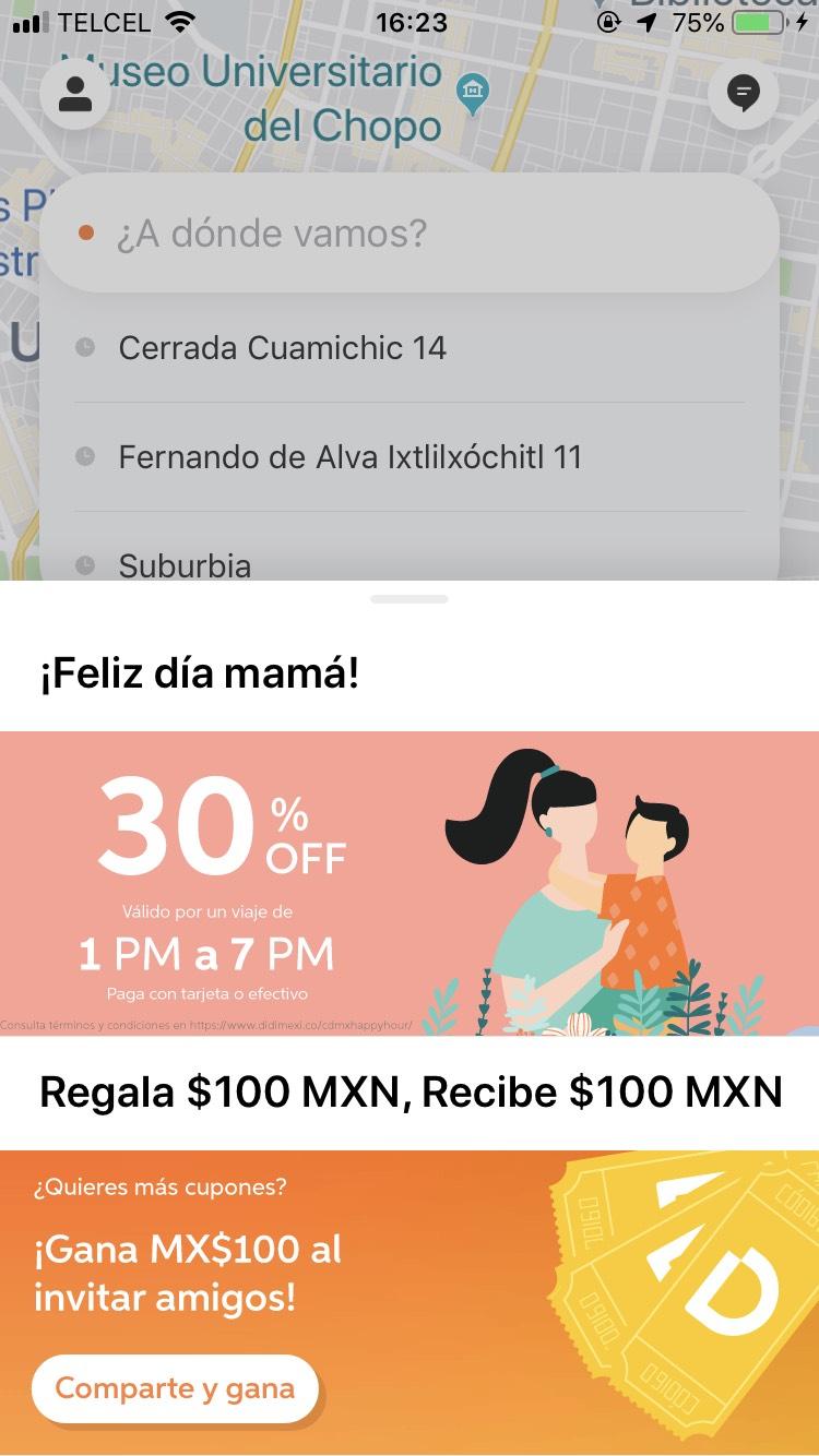 Didi: 30% por el Día de las Madres