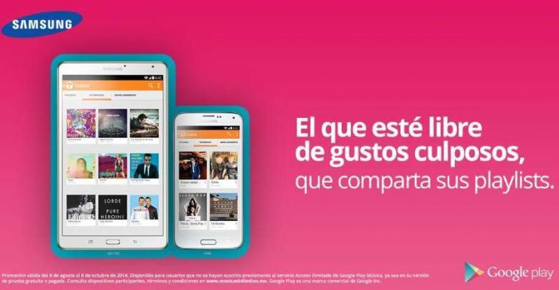 Google Play All Access Music gratis por 60 días si tienes un dispositivo Samsung Galaxy