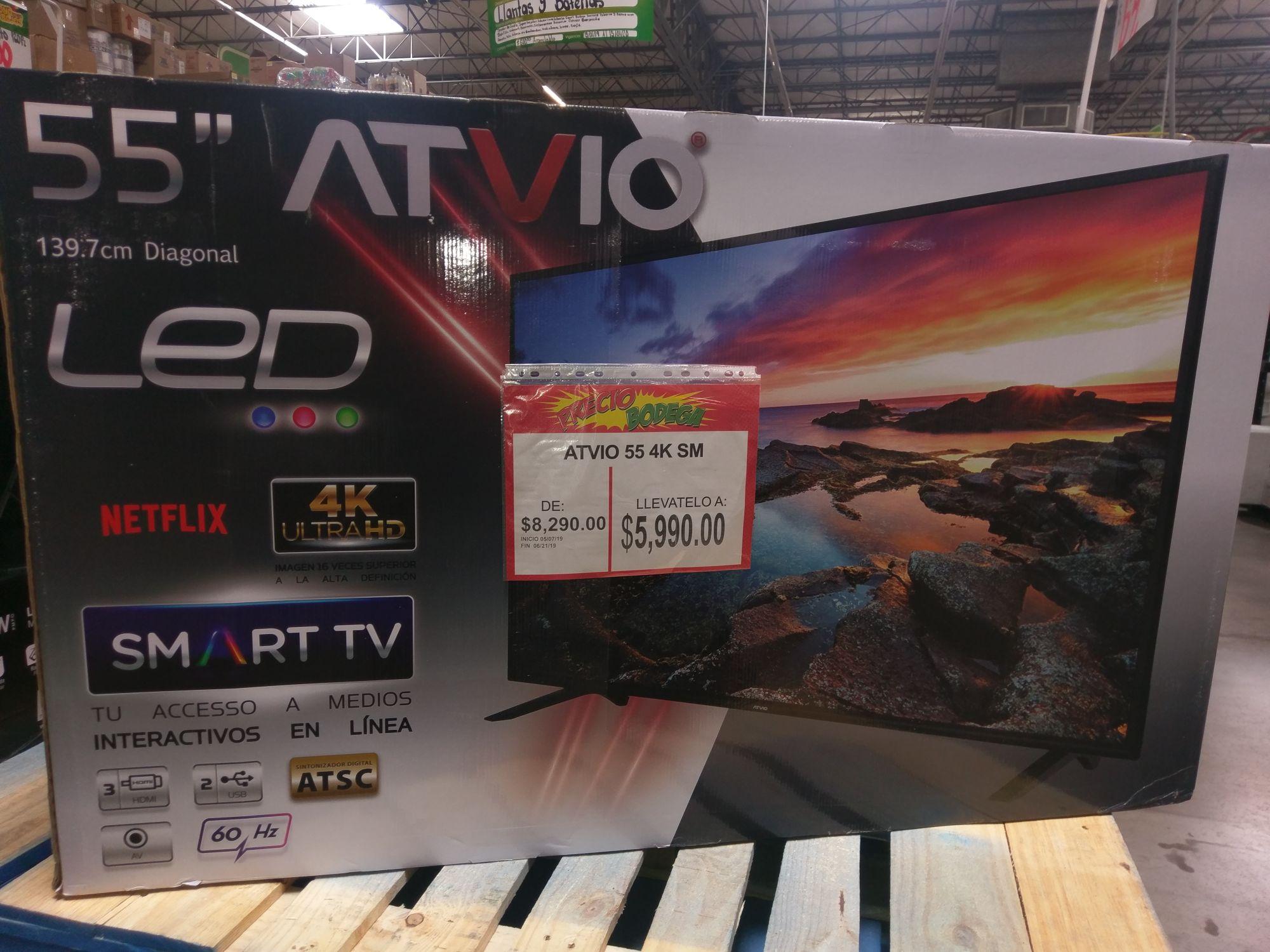 Bodega aurrera: pantalla atvio de 55' smart tv 4k UHD