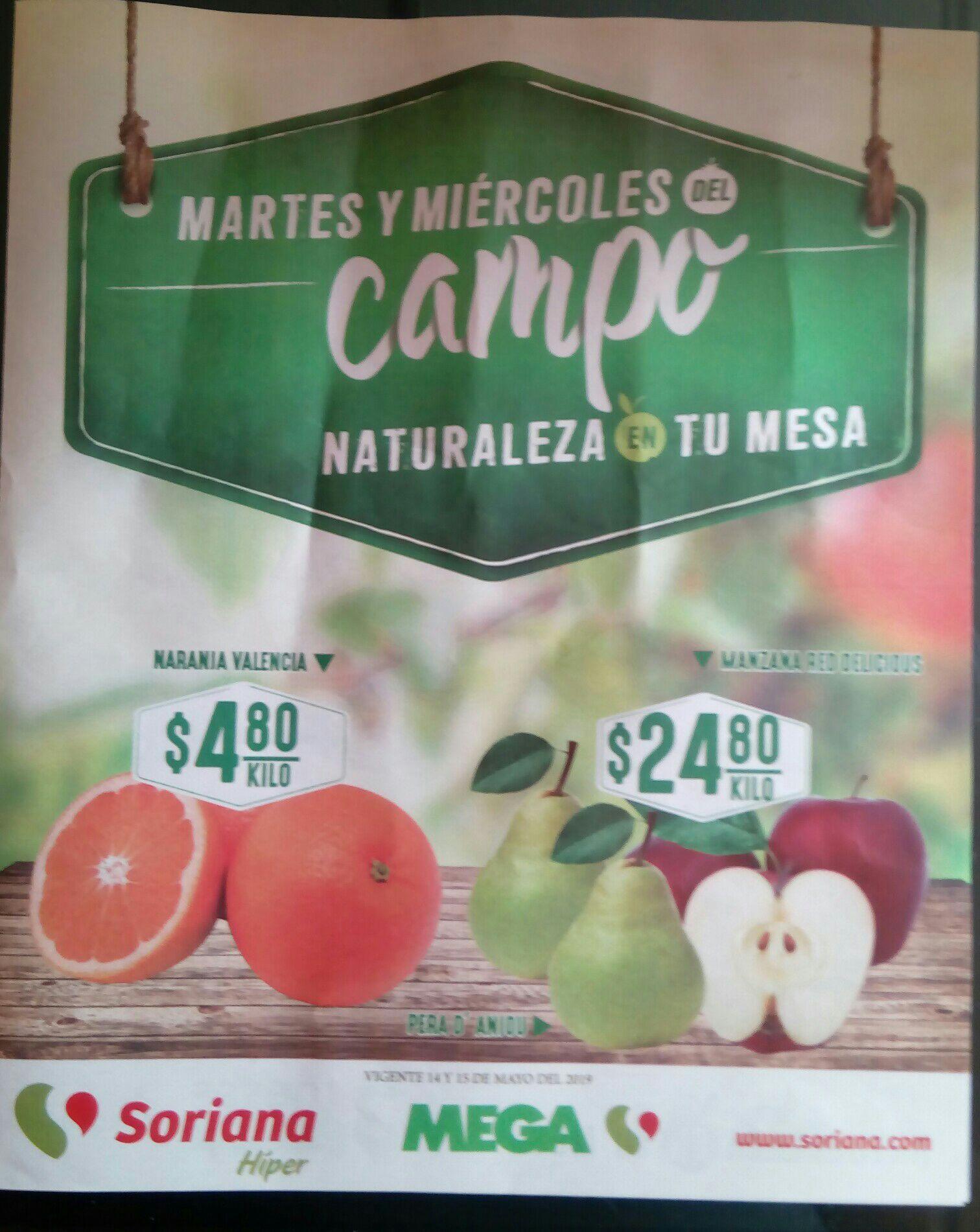 Folleto Martes y Miércoles del Campo Soriana Híper y Mega