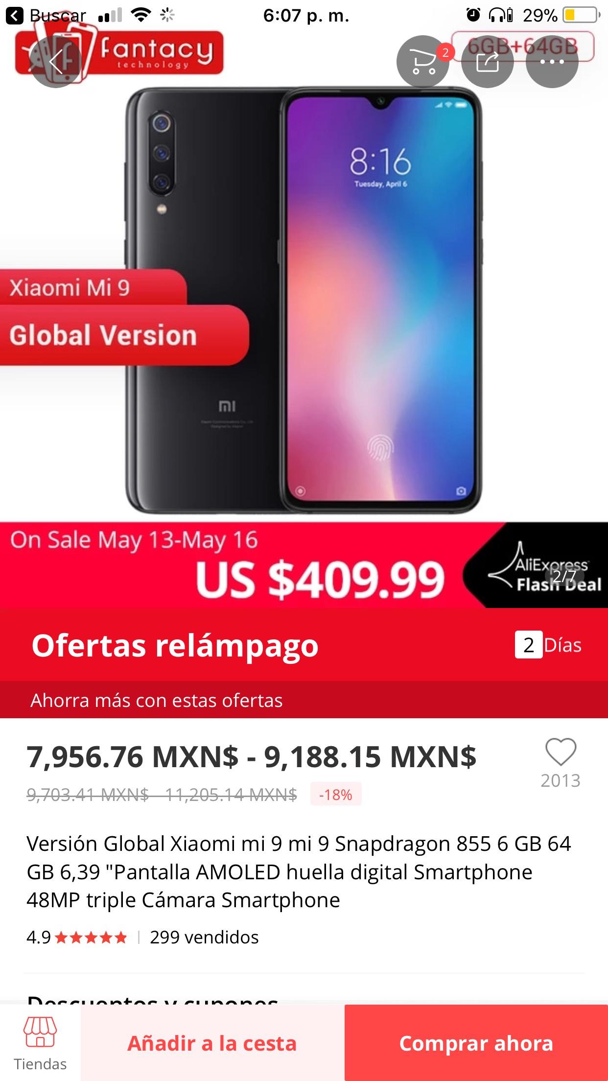 AliExpress: Xiaomi Mi 9 64Gb
