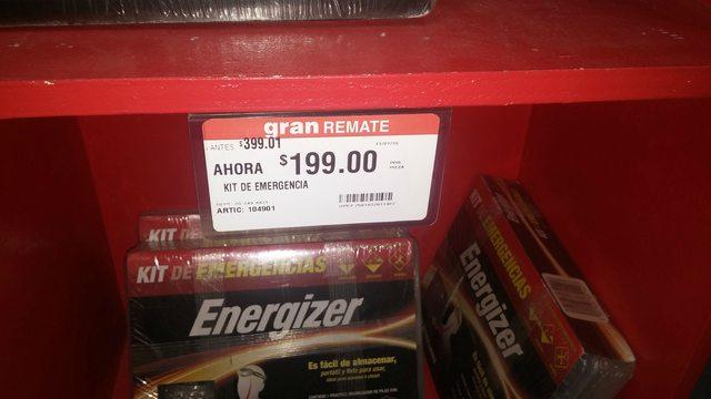 Home Depot Eloy Cavazos - Kit de emergencia Energizer (Pilas)