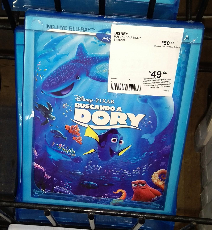Blu-ray Buscando a Dory en Sams Puebla