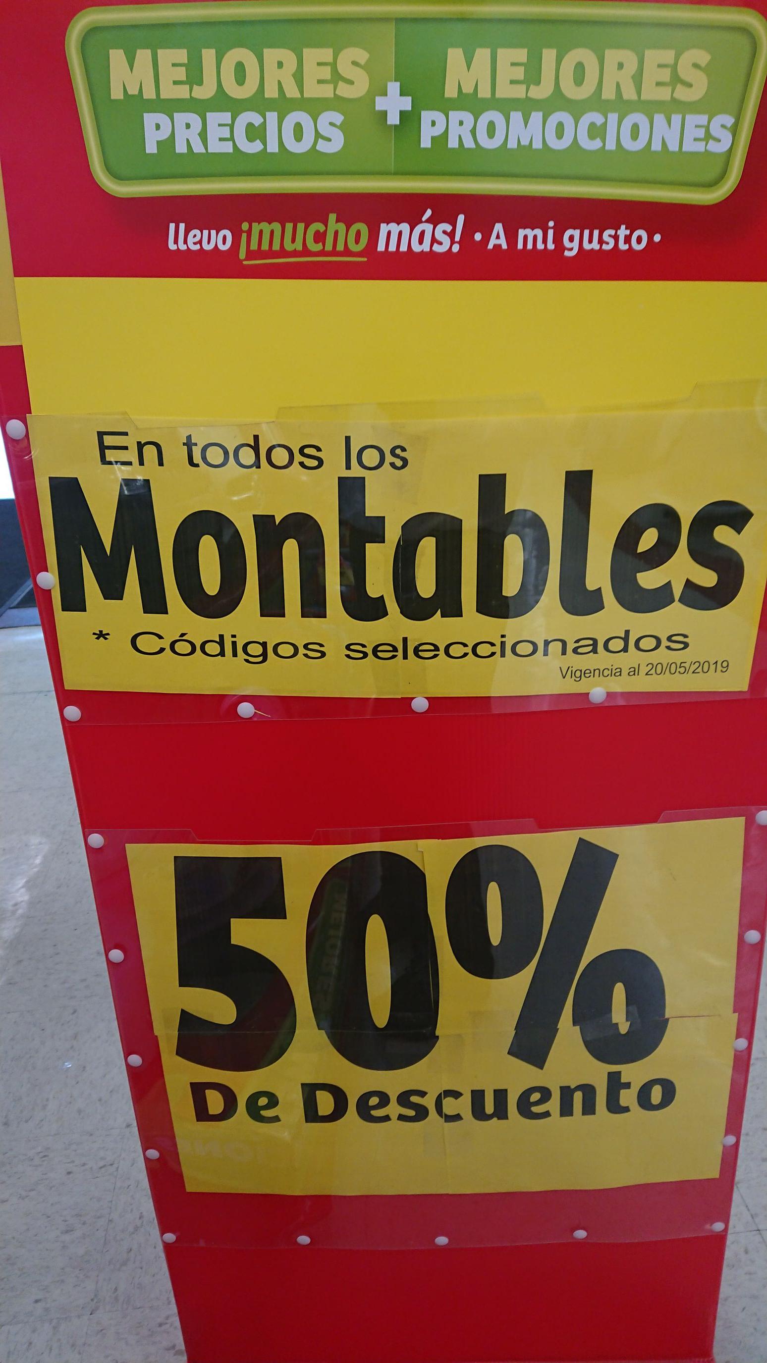 Soriana Híper: 50% de descuento en montables seleccionados