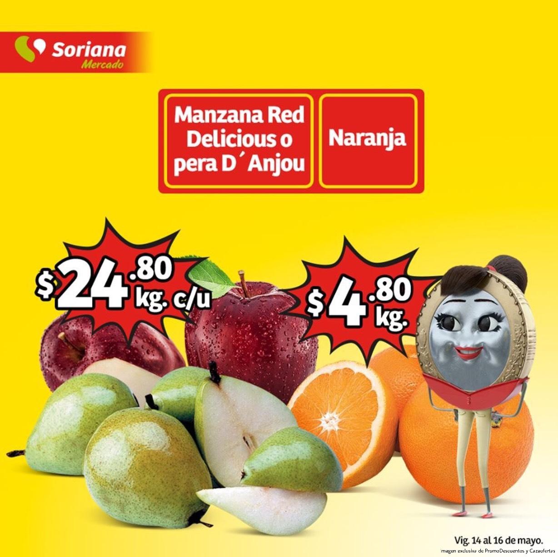 Soriana Mercado y Express: Ofertas y Promociones de Frutas y Verduras del 14 al 16 de Mayo 2019
