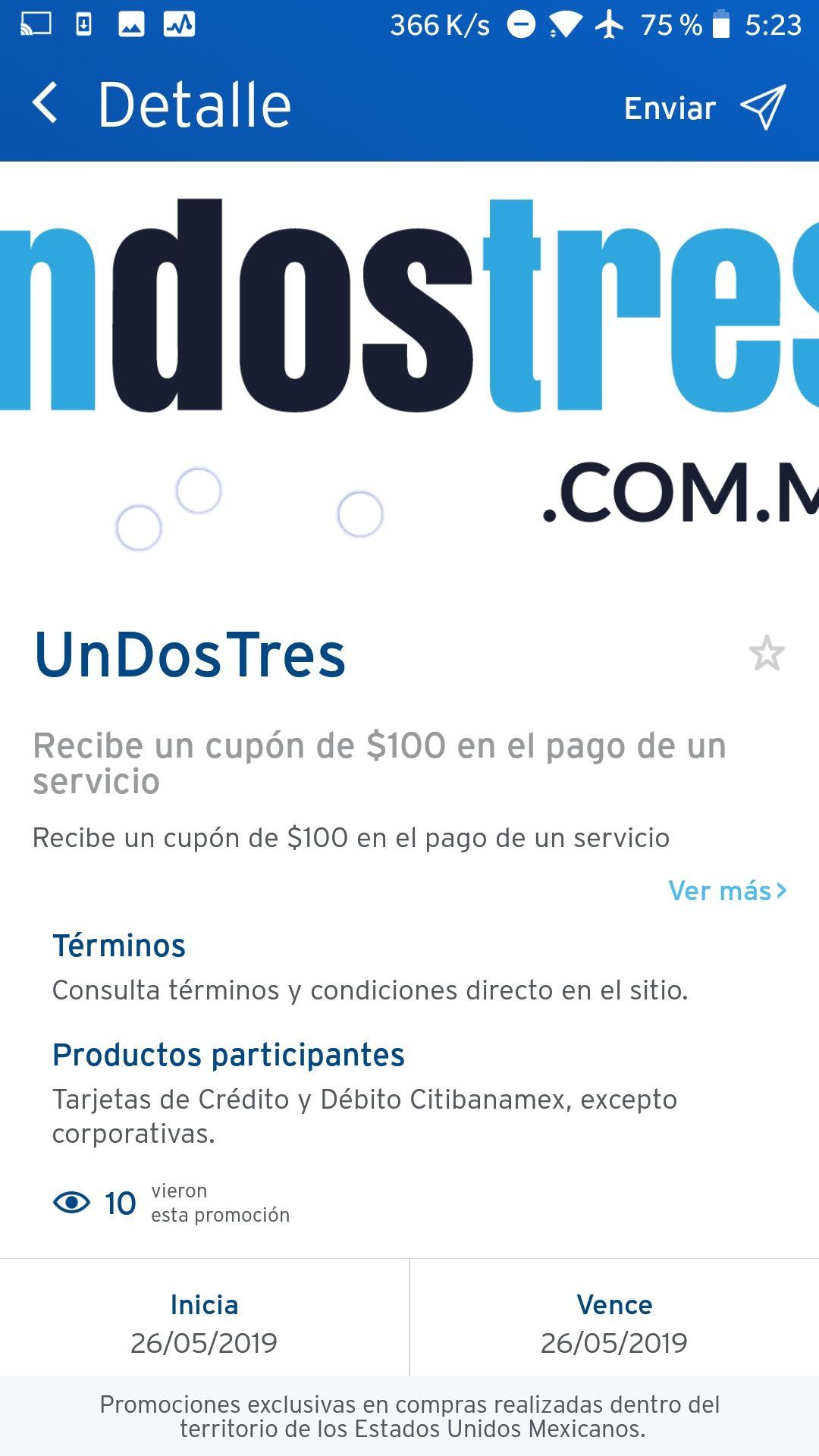 Undostres: Recibe un cupón de $100 en la preventa Citibanamex