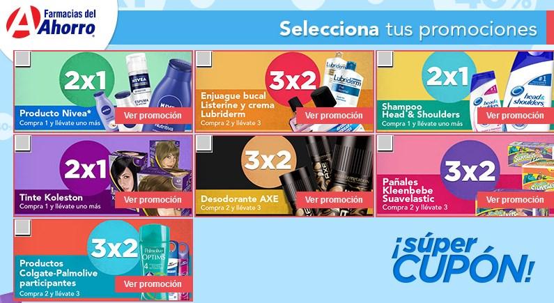Farmacias del Ahorro: cupones de 2x1 y 3x2 (se necesita Facebook)