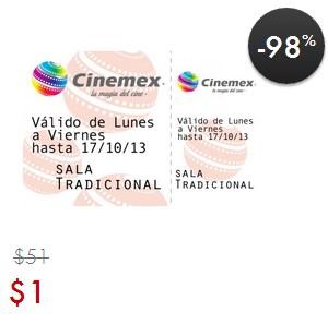 Linio: boleto para Cinemex $1