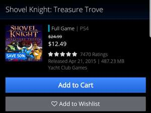 Psn store: Shovel knight treasure trove