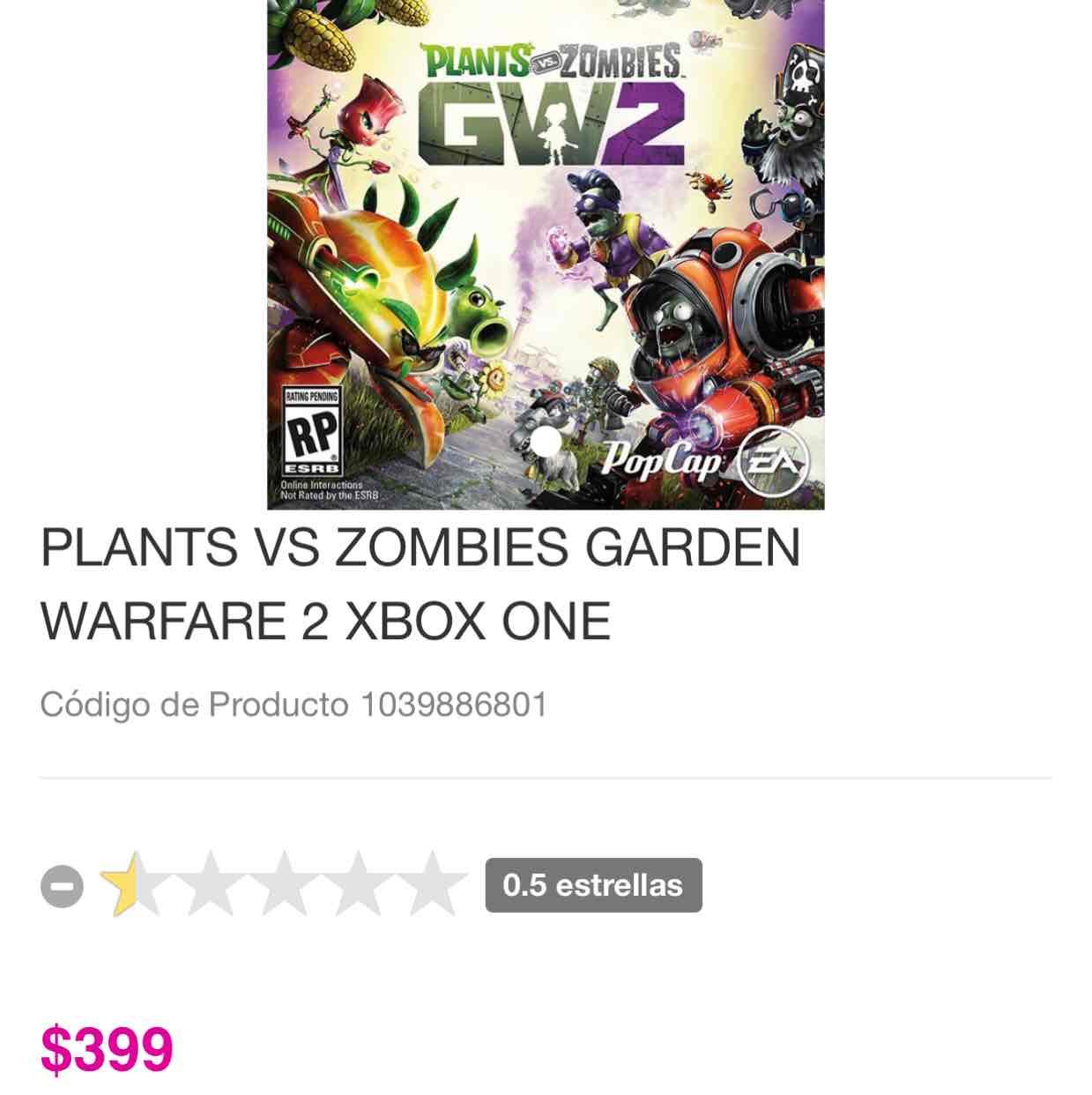 Liverpool: Juego de Xbox One Plantas vs zombies GW2 (preventa)