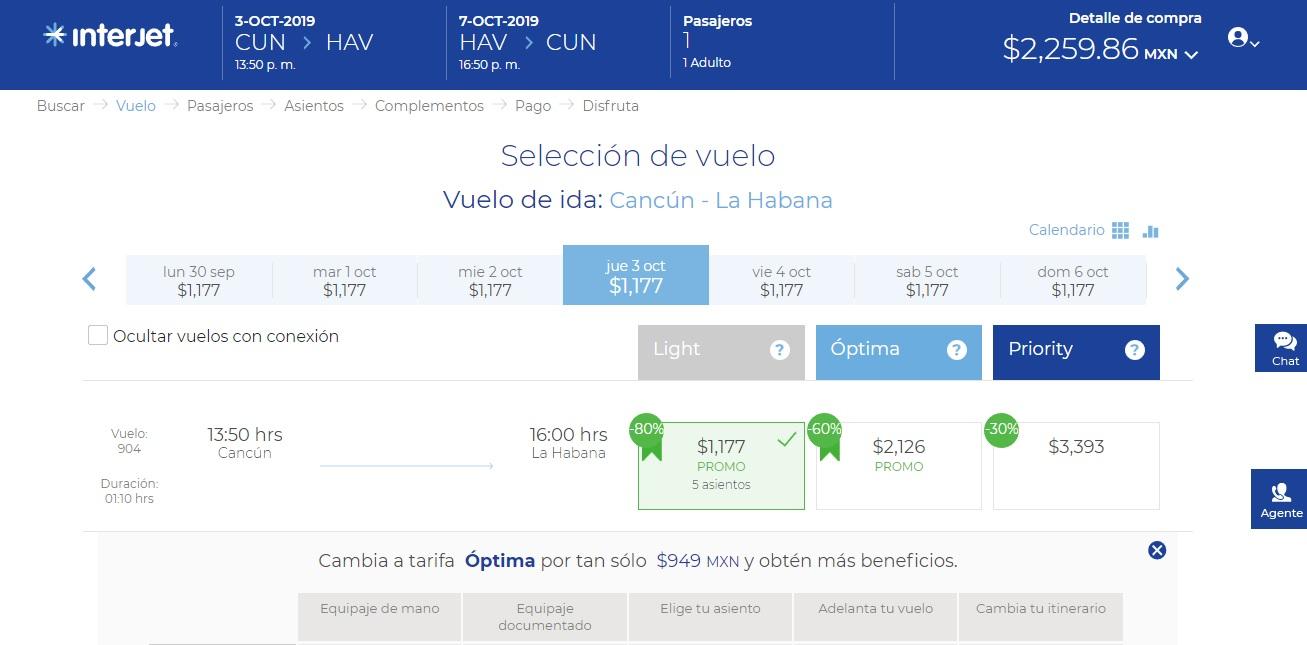 Interjet: Vuelo redondo Cancun - La Habana