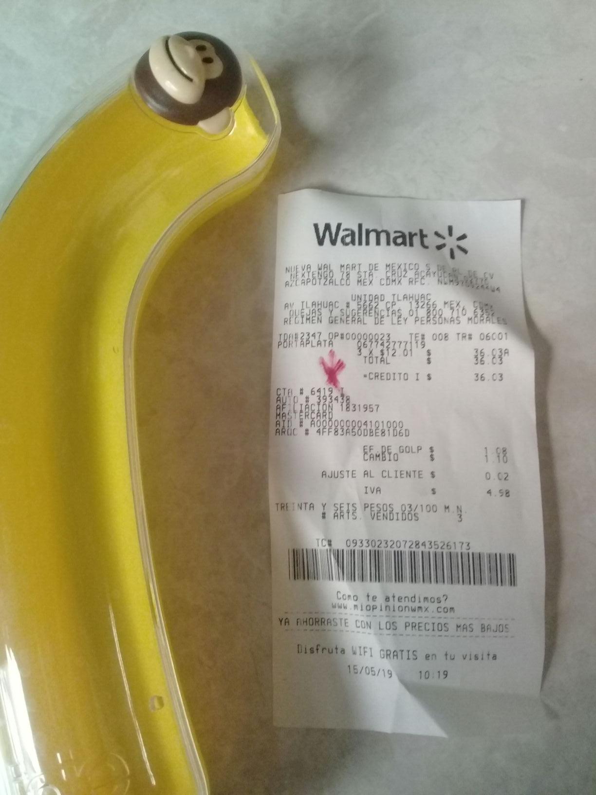 Walmart Tláhuac  porta plátano