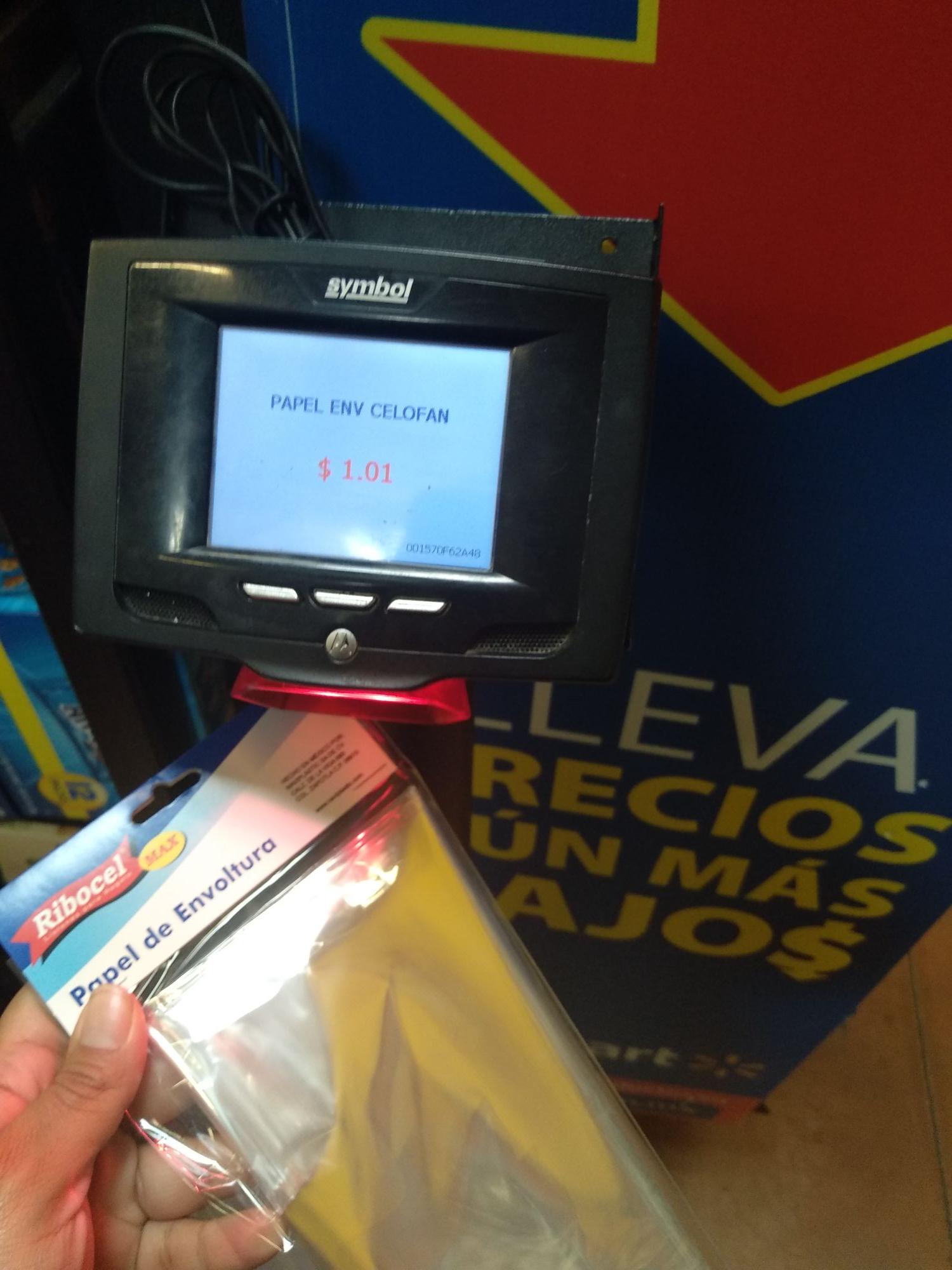 Walmart: papel celofán envoltura y guantes de látex