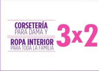 Suburbia: 3x2 en toda la ropa interior