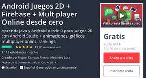 Udemy: Android Juegos 2D + Firebase + Multiplayer Online desde cero