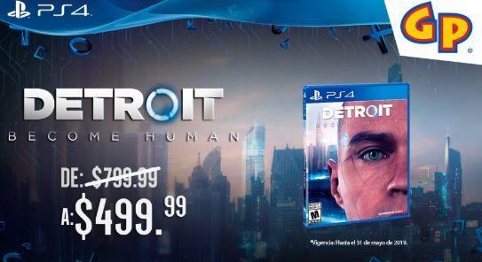 Game Planet: Detroit become human  fisico nuevo de 799.99 a 499.99 ps4