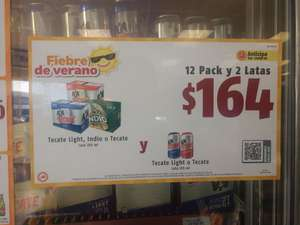 Oxxo: 12 pack + 2 latas