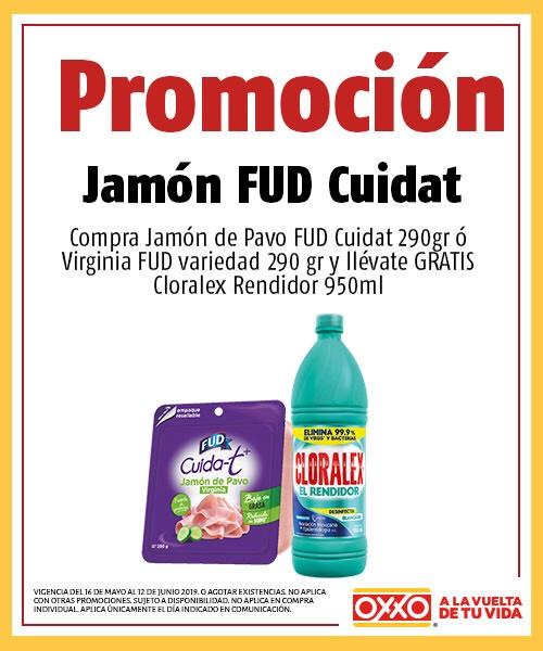 Oxxo: Jamón FUD 290gr + Clorox Gratis
