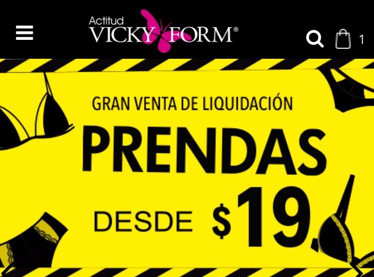 VICKY FORM: prendas desde $19