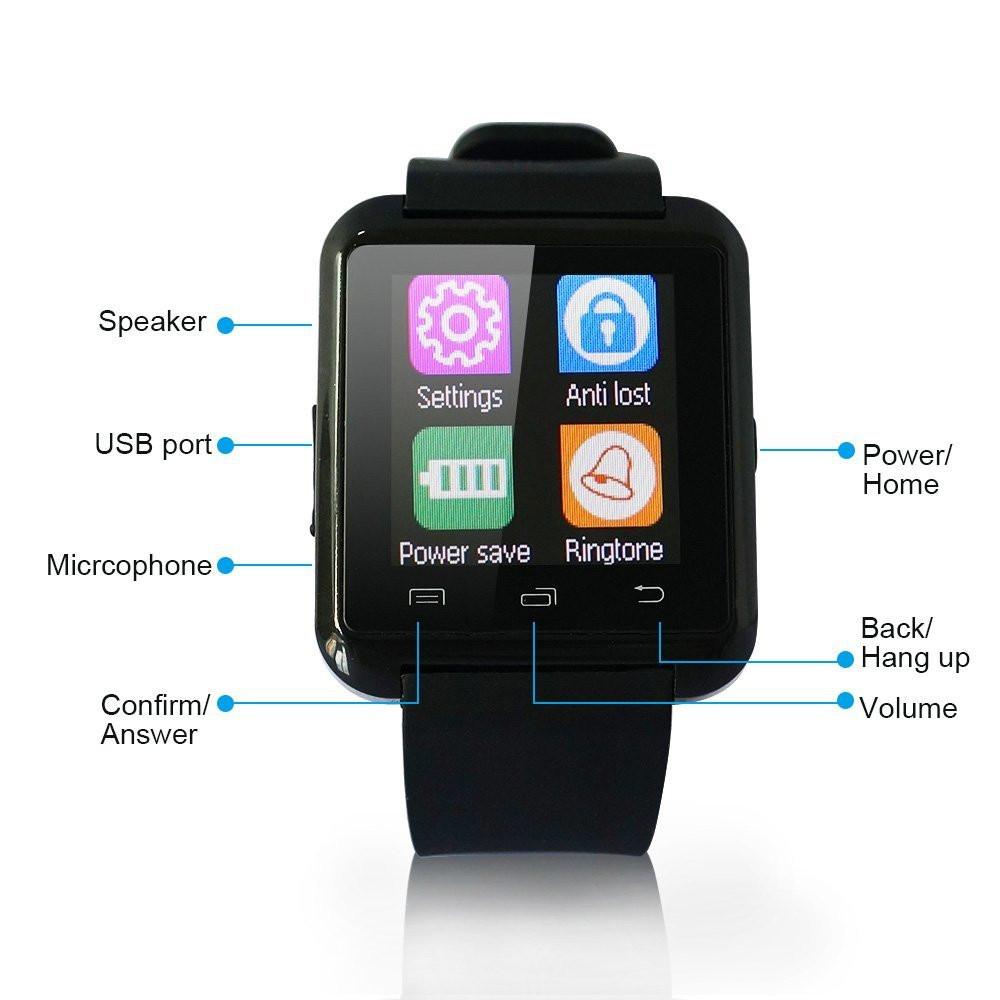 Linio: Smartwatch Kenting U8 con Bluetooth-Negro - a $300.69 y Envío Gratis