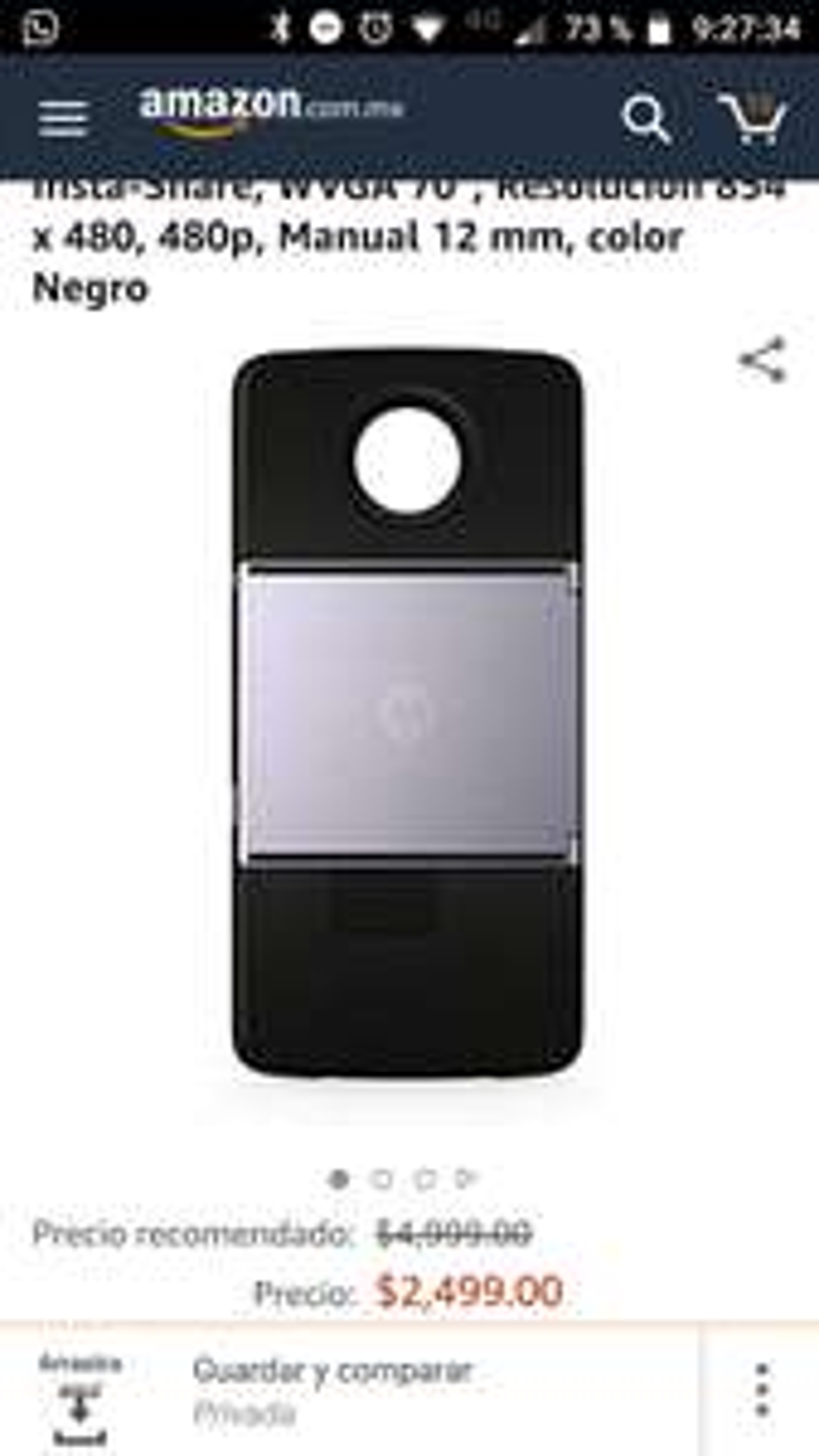 Amazon: Motorola MD100P Proyector Moto Insta-ShareMoto Mod