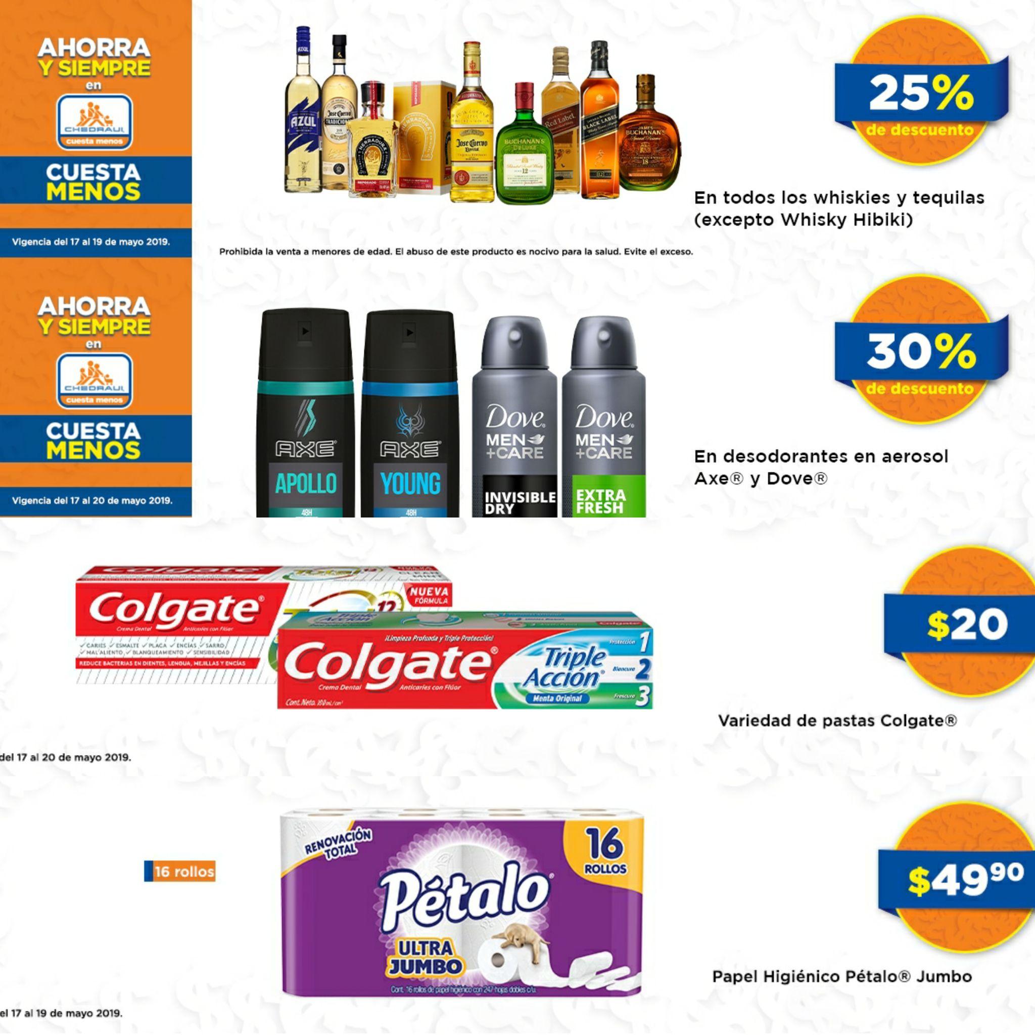Chedraui: Descuentos en Tequilas, Whiskys, Desodorantes y más ofertas de fin de semana