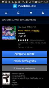 PSN - Darkstalkers® Resurrection - PlayStation 3