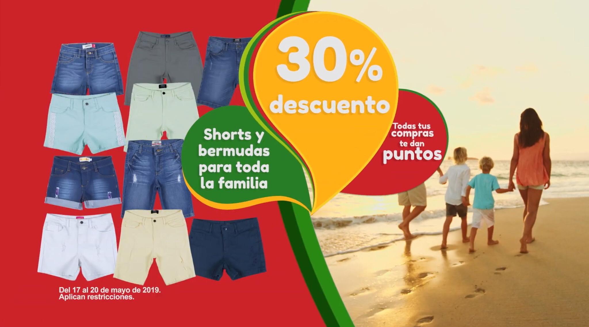 Soriana Híper y Mega: 30% de Descuento en Shorts y Bermudas para toda la Familia al 20 de Mayo 2019