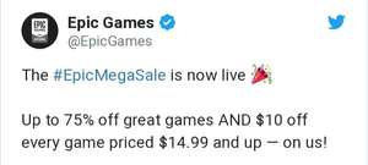 Epic Store: 10 USD de descuento adicionales a juegos en toda la tienda