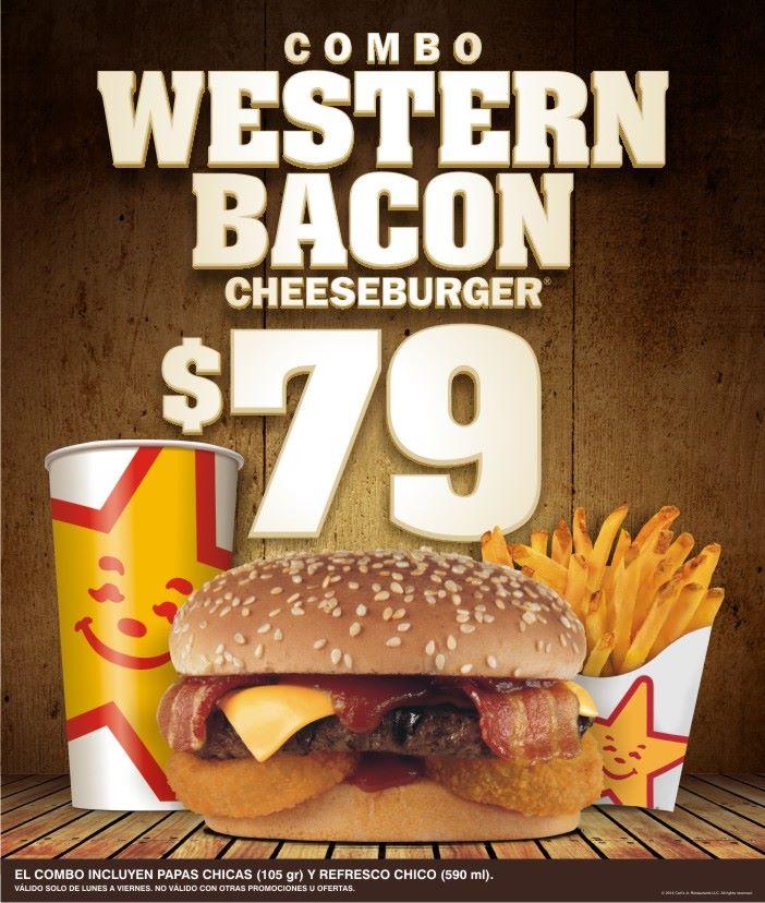 Carl's Jr Combo chico Western Bacon