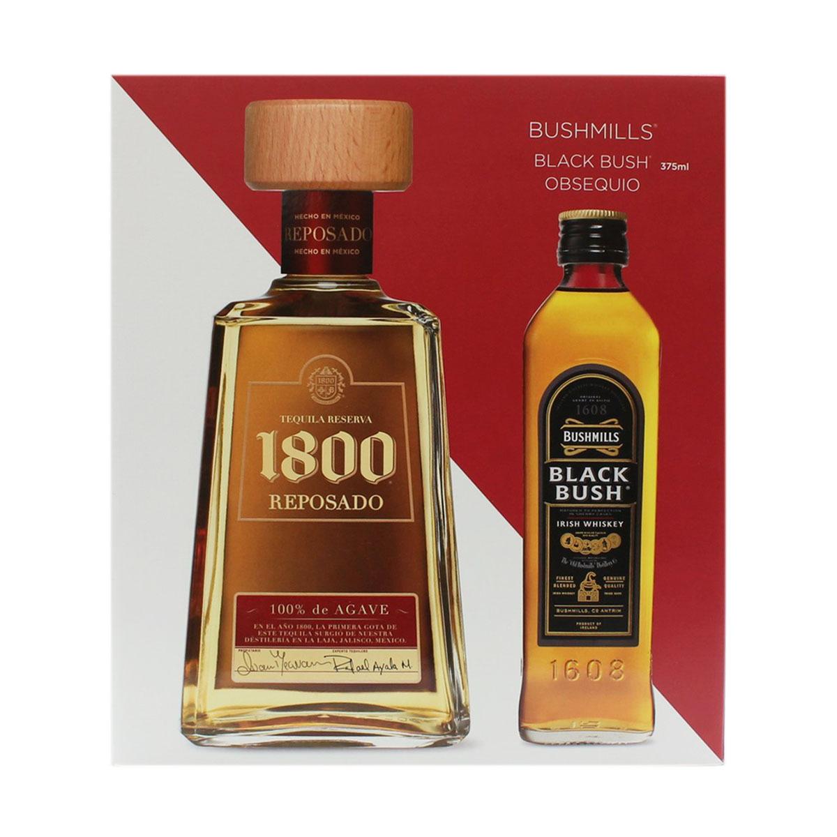 Chedraui en línea: Tequila 1800 rep + Bushmills 375 ml