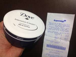 Superama Mayorazgo CDMX Liquidación Crema corporal Dove Intensive-Cream de 250 ml $10.02