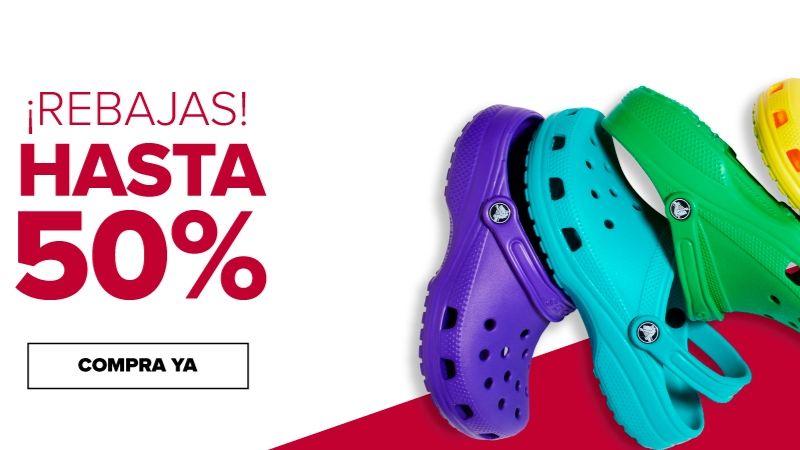 Crocs: Outlet en línea. Hasta 50% de descuento