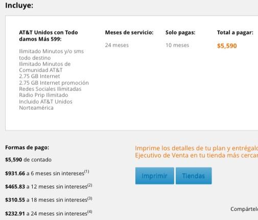 Iusacell: at&t con todo damos más ilimitado 5.5 gb de internet $233 al mes x 24 meses con tarjeta de crédito