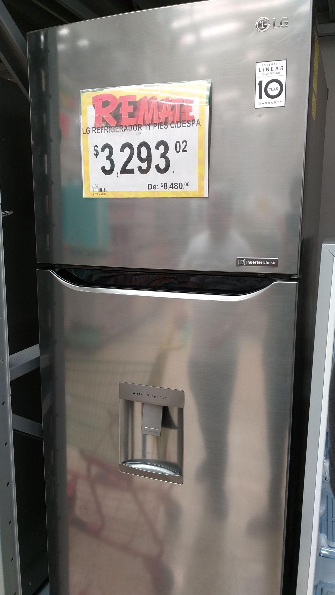 Bodega Aurrera: Refrigerador LG con despachador de Agua