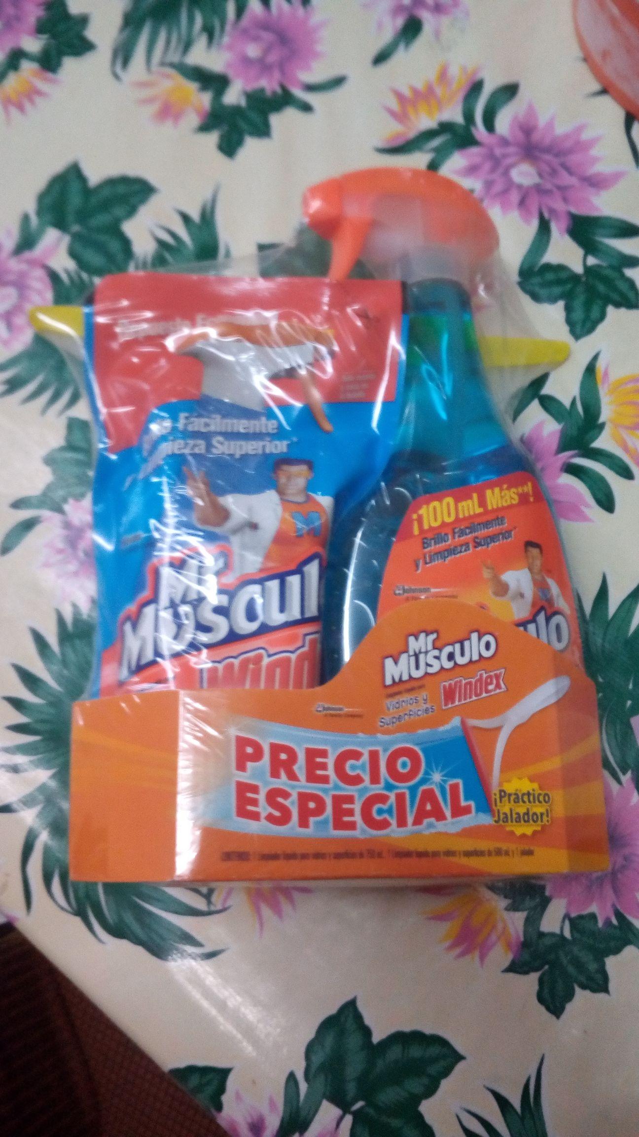 Walmart Pensiones: Mr.Musculo Vidrios Pack y Pack Toallas Always