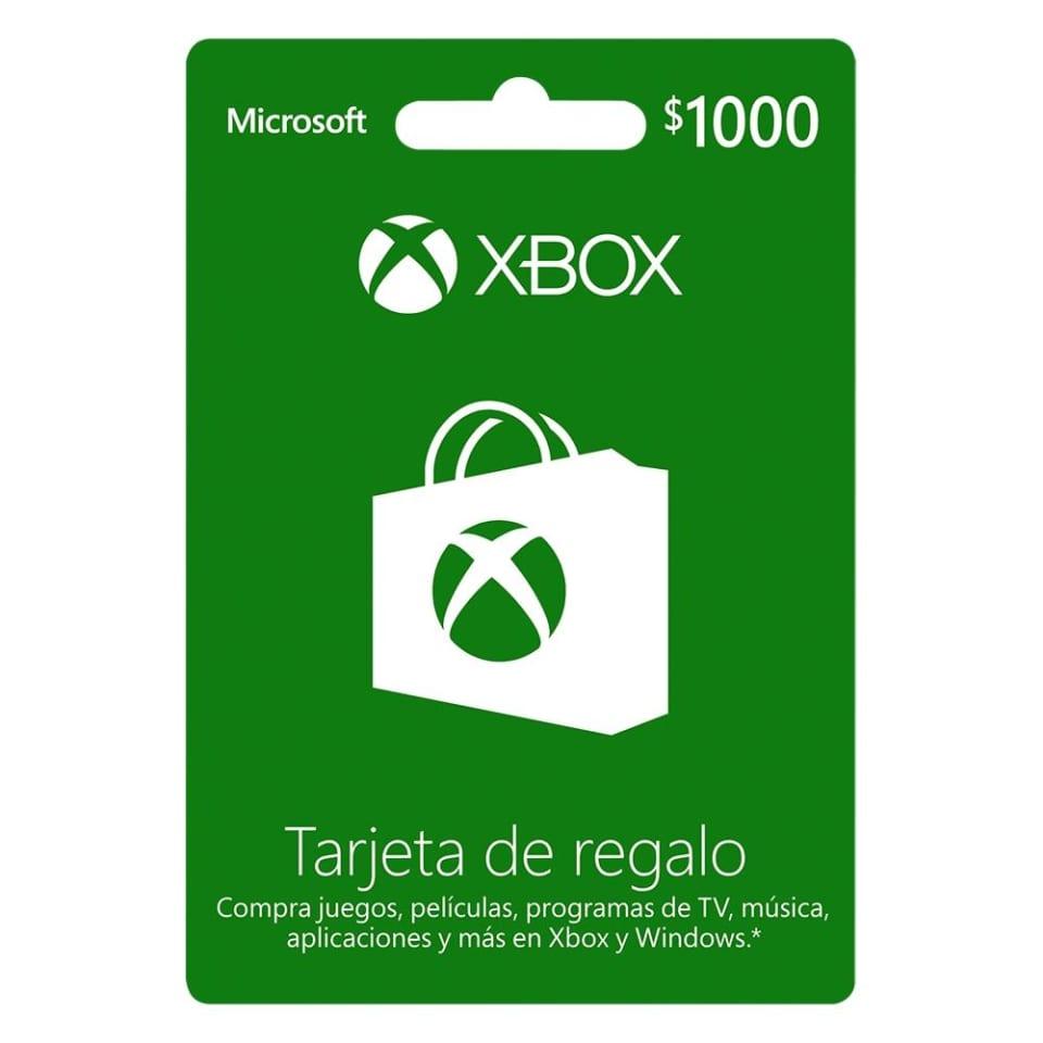 Walmart en línea: Tarjeta de Regalo $1,000 MXN Xbox One