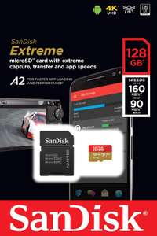 Amazon: Memoria Extreme micro SD Sandisk 128 GB XC V30