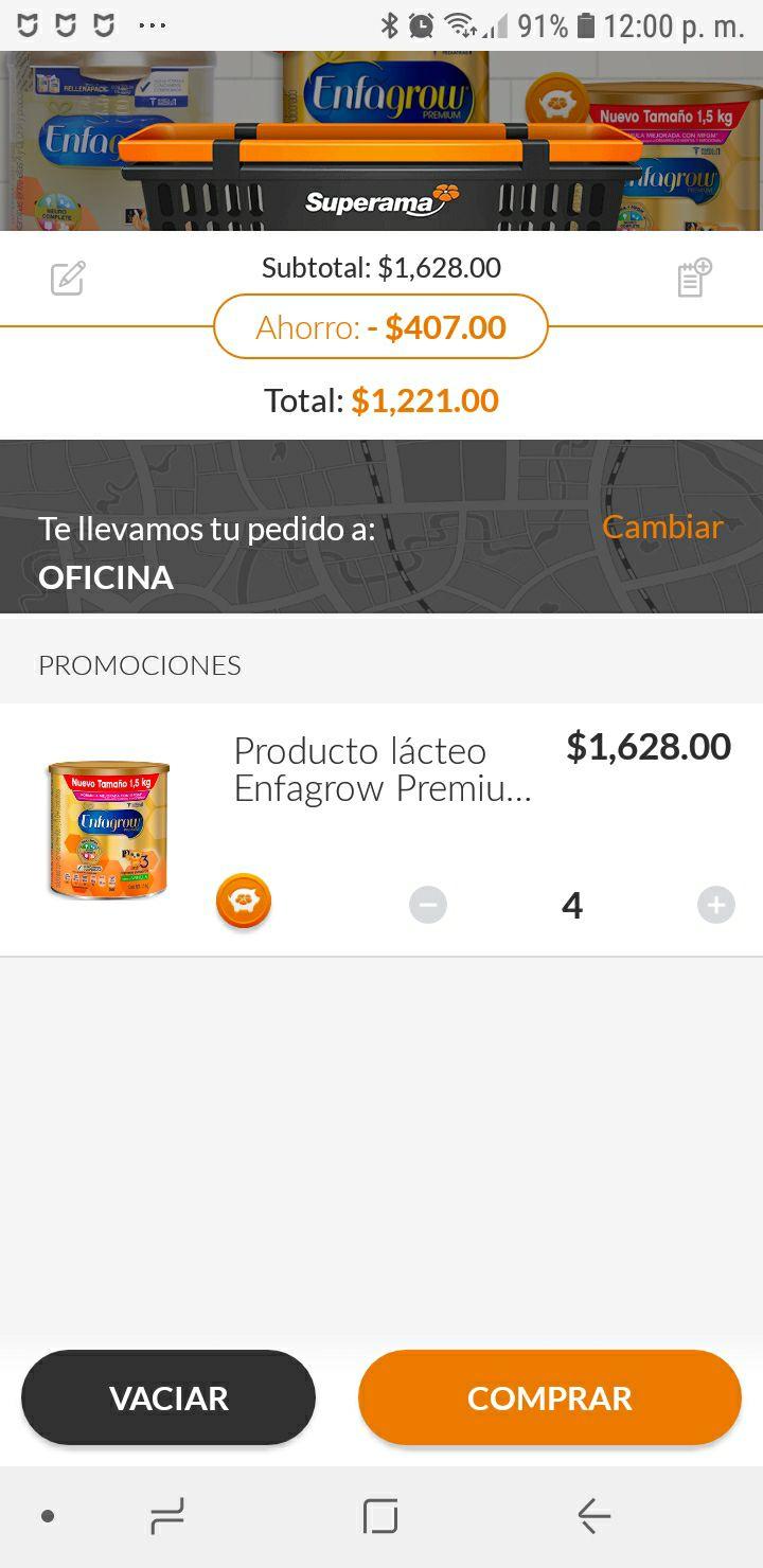 Superama: Enfagrow Premium Etapa 3 primeras palabras 1.5 kg (4x3)