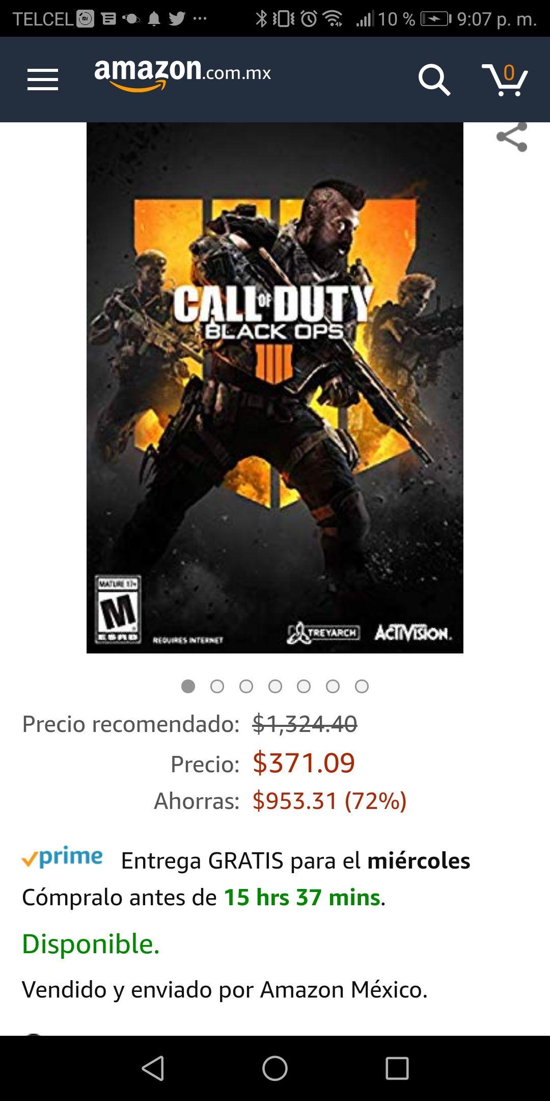 Amazon MX: Call of Duty - Black Ops 4 para PC