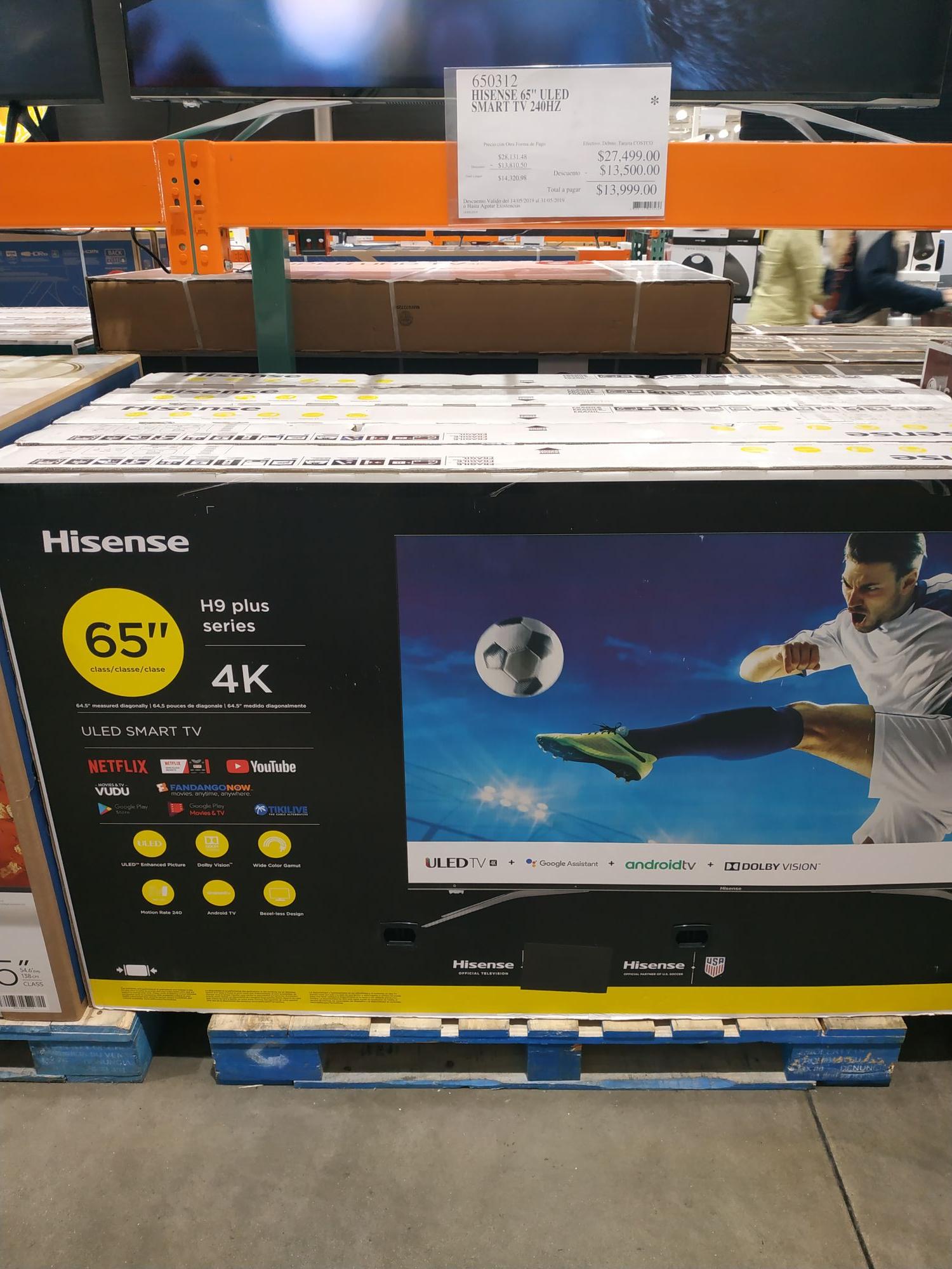 "Costco: Hisense 65"" H9 plus de 27,500 a $13,999"