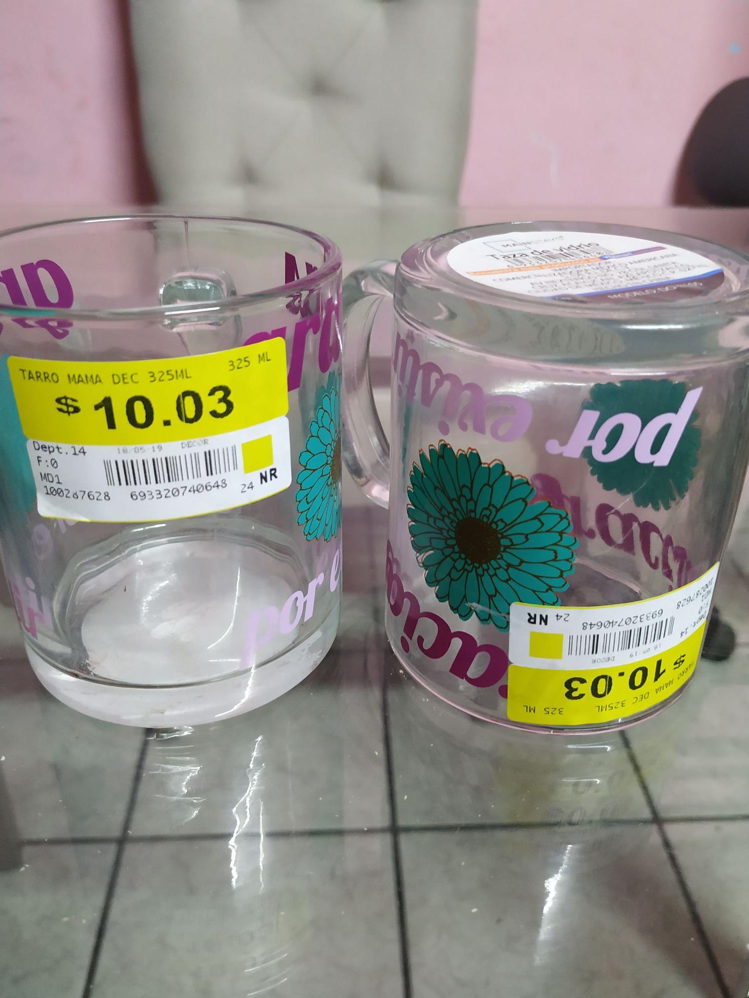 Bodega Aurrera: Taza de vidrio