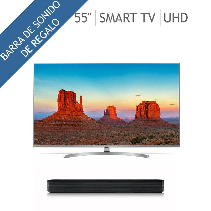 "Costco: LG Smart TV 55"" 55UK7500 4K UHD Inteligencia artificial TM120 + Barra de sonido LG SK1"
