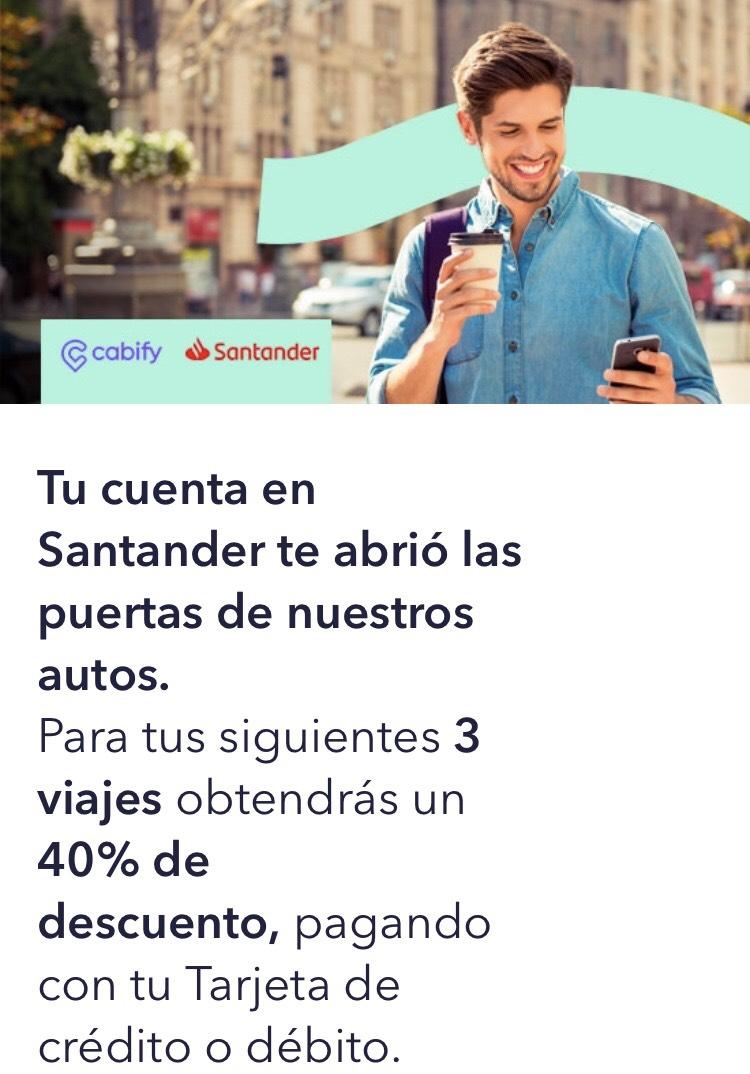 Cabify: 40% de descuento en tus 3 próximos viajes