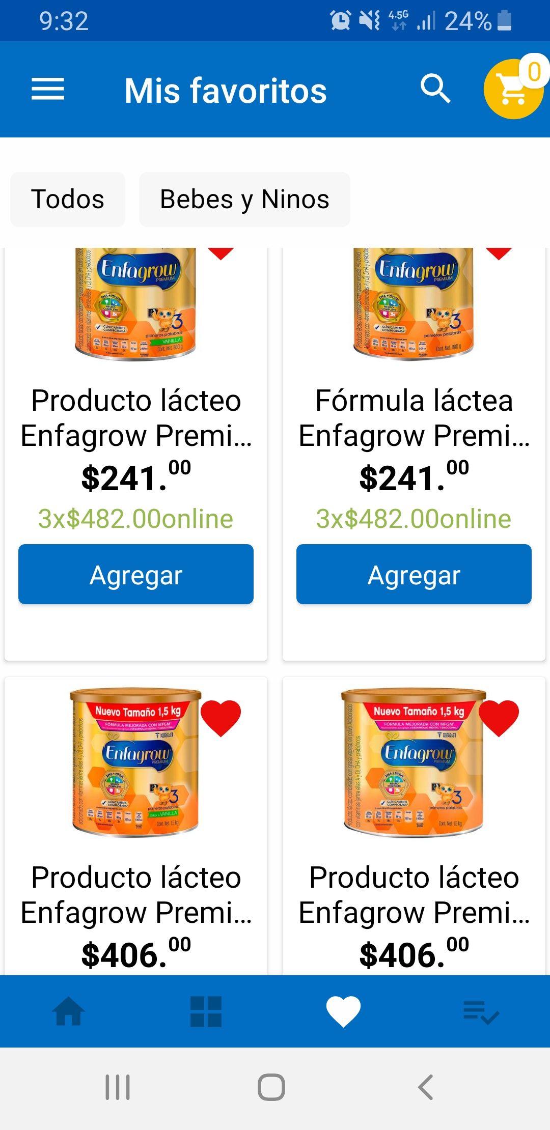Walmart: Enfagrow Etapa 3 fórmula láctea (3x$482)
