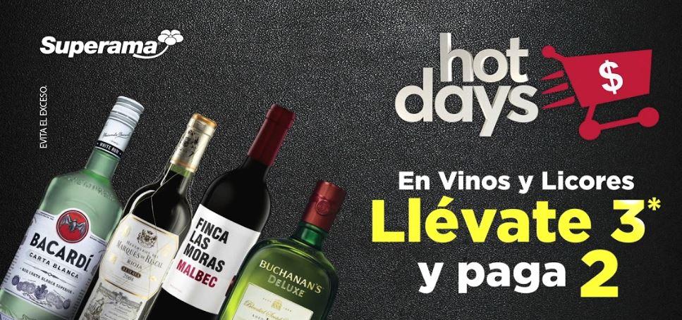 Superama Hot Sale: 3x2  en vinos y licores en linea y tienda fisica